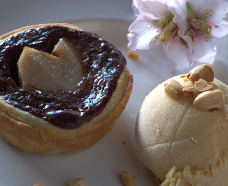 Chocolate Pear Tarts with Amarula Ice Cream