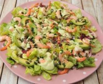 Prawn Salad with Avocado Dressing