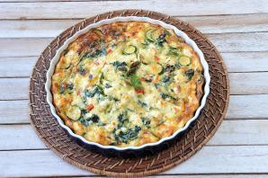 Crustless Spinach and Feta Pie
