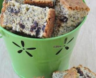 Lemon, Poppy Seed and Cranberry Rusks