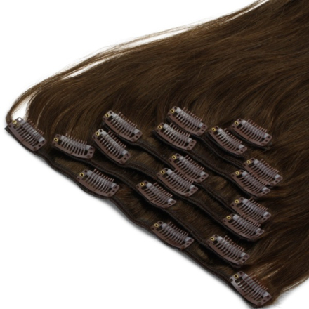 Clip-on Löshår Full Brown #4 40cm