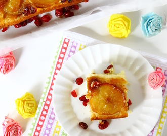 Upside-Down Apple And Cranberry Cake