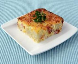 Crustless Ham and Cauliflower Quiche