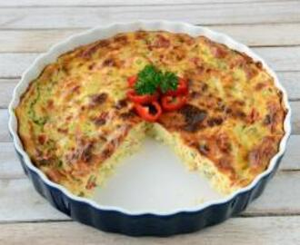 Crustless Asparagus and Red Pepper Quiche