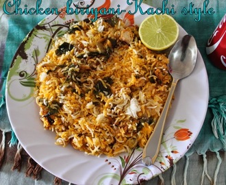 Hyderabadi kachhi style chicken dum biriyani/Dum murgh ki kachhi biryani/south indian boneless chicken biriyani with step wise pictures/Sunday non vegetarian rice recipes