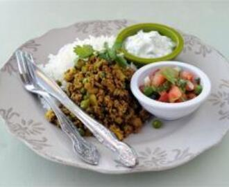 Curried Mince with Sambals