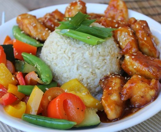 Sesame Orange Chicken Stir Fry