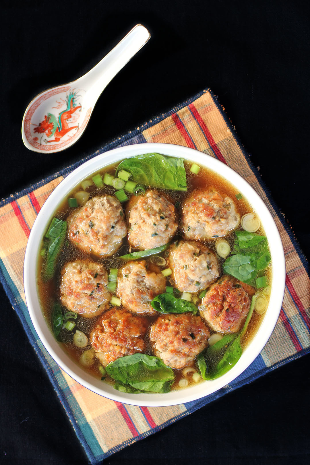 Pork and Prawn Balls in Aromatic Broth