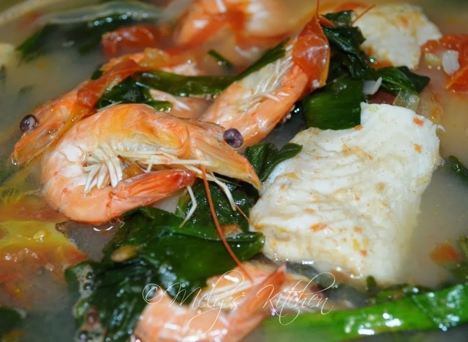 Fish and Shrimp Sinigang