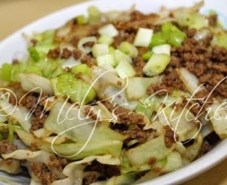 Cabbage with Ground Beef