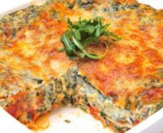 Cheese and Spinach Lasagne