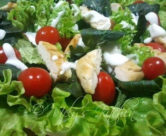 Simple Chicken Vegetable Salad
