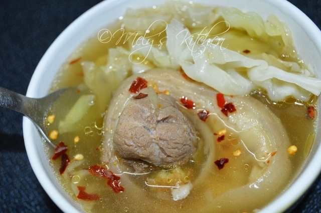 Hot and Spicy Nilagang Pata