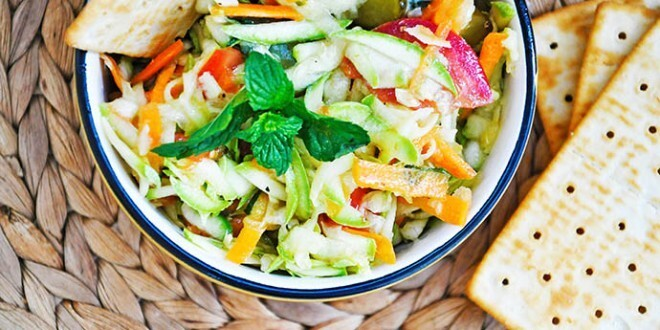 Zucchini Salad with Mint and Pickles