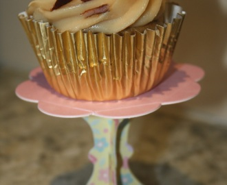 Elvis cupcakes - banana, peanut butter and bacon