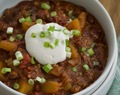 RECIPE: sweet and spicy pumpkin chili, cooked