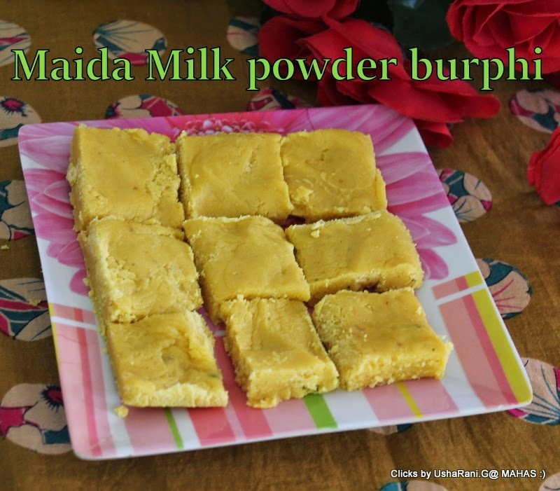 5 ingredients sweet burphi/Milk powder maida burphi/ Easy indian festival sweets/ Easy diwali sweets/ How to make maida fudge/Step by step pictures