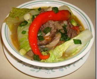 Nilagang Baka with Langka (Beef Soup with Unripe Jackfruit)