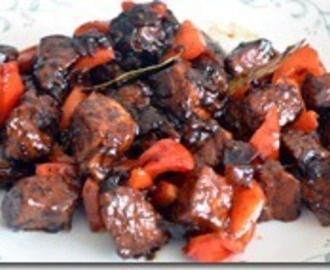 Adobong Baboy with Red Bell Pepper (Pork Adobo)
