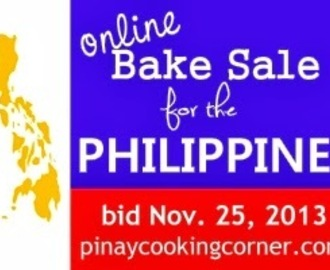 Online Bake Sale for the Philippines--- BIDDING CLOSED!!!