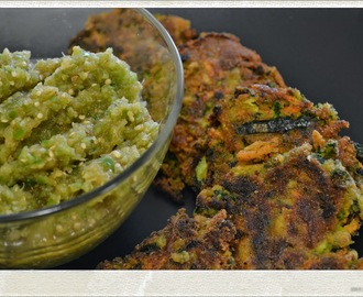 Kale, Zucchini & Sweet Potato Croquettes with Tropical Salsa Verde