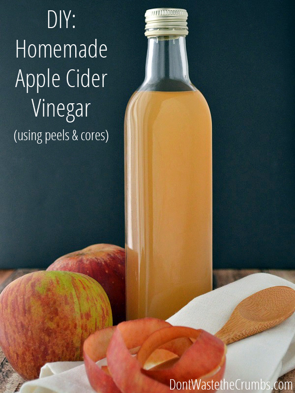 DIY:  Homemade Apple Cider Vinegar (using peels and cores)