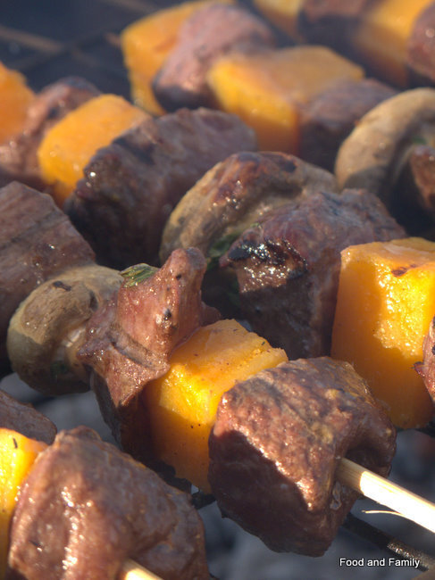 Ostrich Fillet and Butternut Kebabs - Braai the Beloved Country