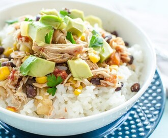 Crockpot Mexican Pineapple Chicken // Freezer Meal