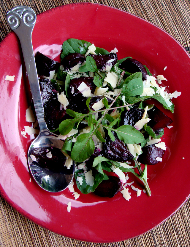 Beetroot, Rocket, Bacon & Parmesan Salad