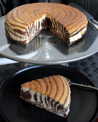 Zebra Cheese Cake