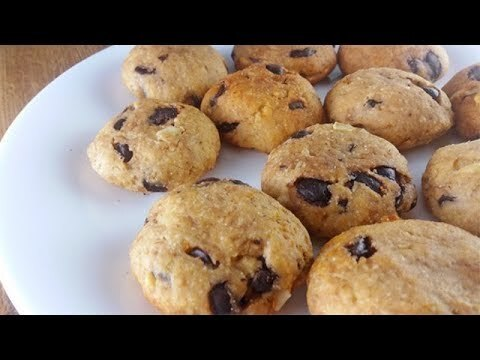 banana cookies recipe without oven| eggless banana chocolate chip cookies recipe - YouTube