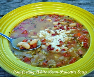 Budget-Friendly #SundaySupper...Featuring Comforting White Bean-Pancetta Soup