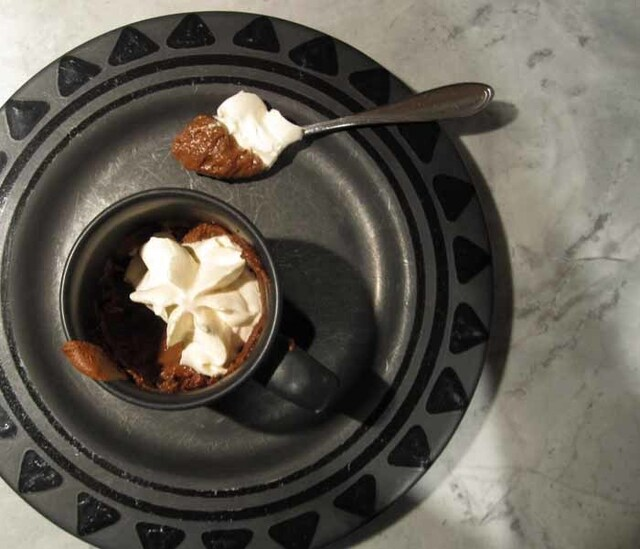 Mexican Chocolate Pudding Souffles with Cinnamon Whipped Cream