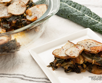 Recipe - Breadless Potato Kale Gratin