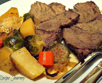 Pot Roast with a Dijon Cream Sauce