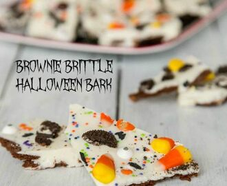 Brownie Brittle Halloween Bark