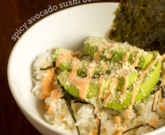 Deconstructed Spicy Avocado Sushi Bowl
