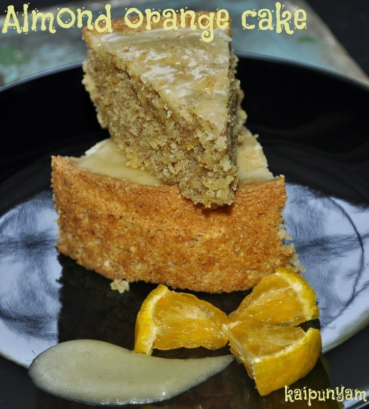Almond Orange Cake with Orange glaze