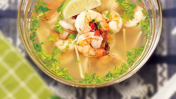 Sour and Spicy Shrimp Soup Recipe