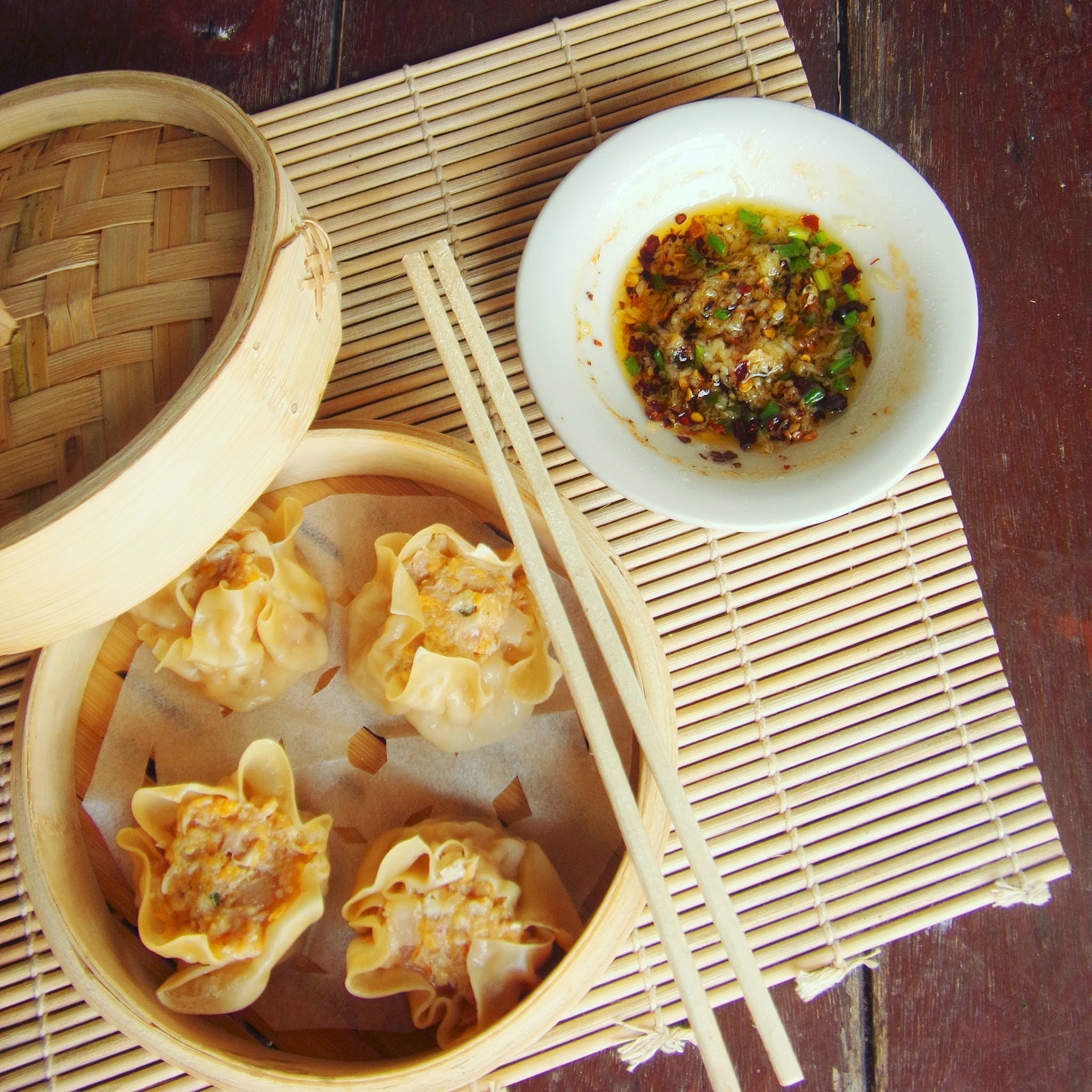 Pork, Shrimp and Crab Dumpling - Siu Mai or Siomai