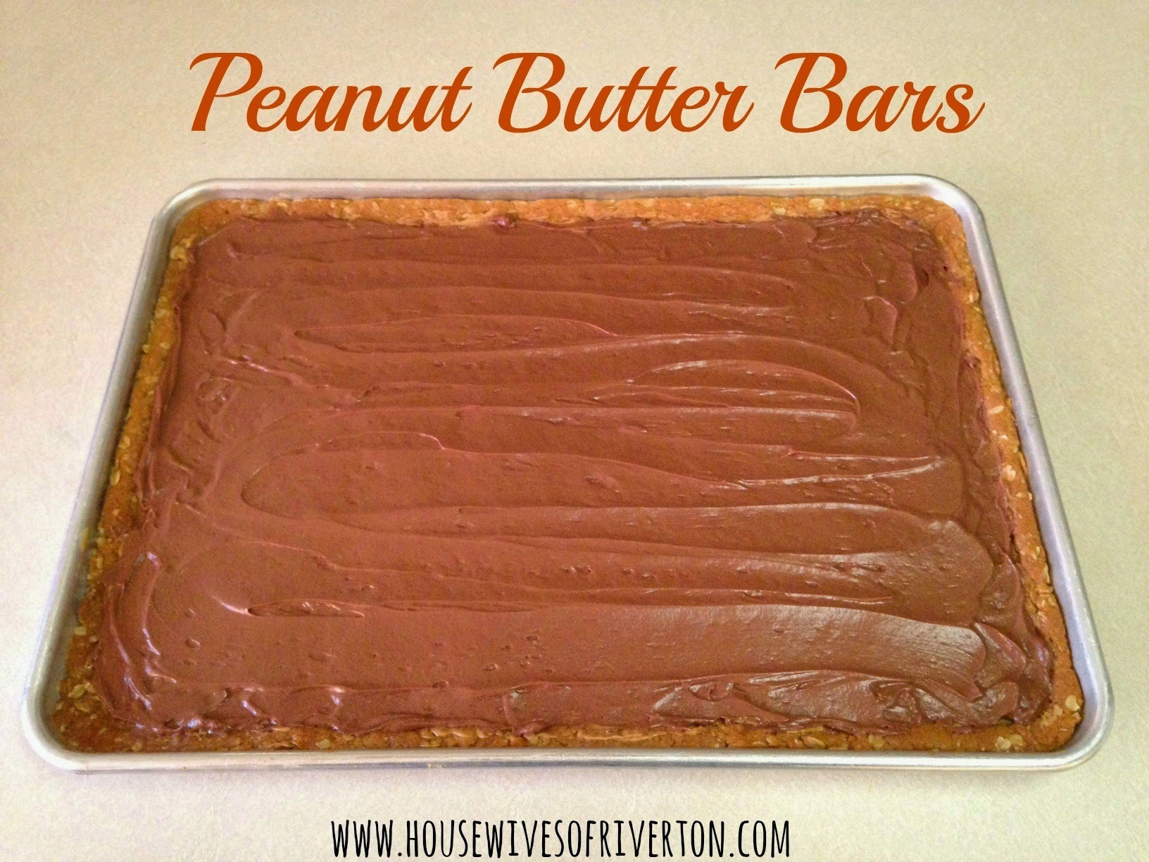 Peanut Butter Bars- Lunch Lady