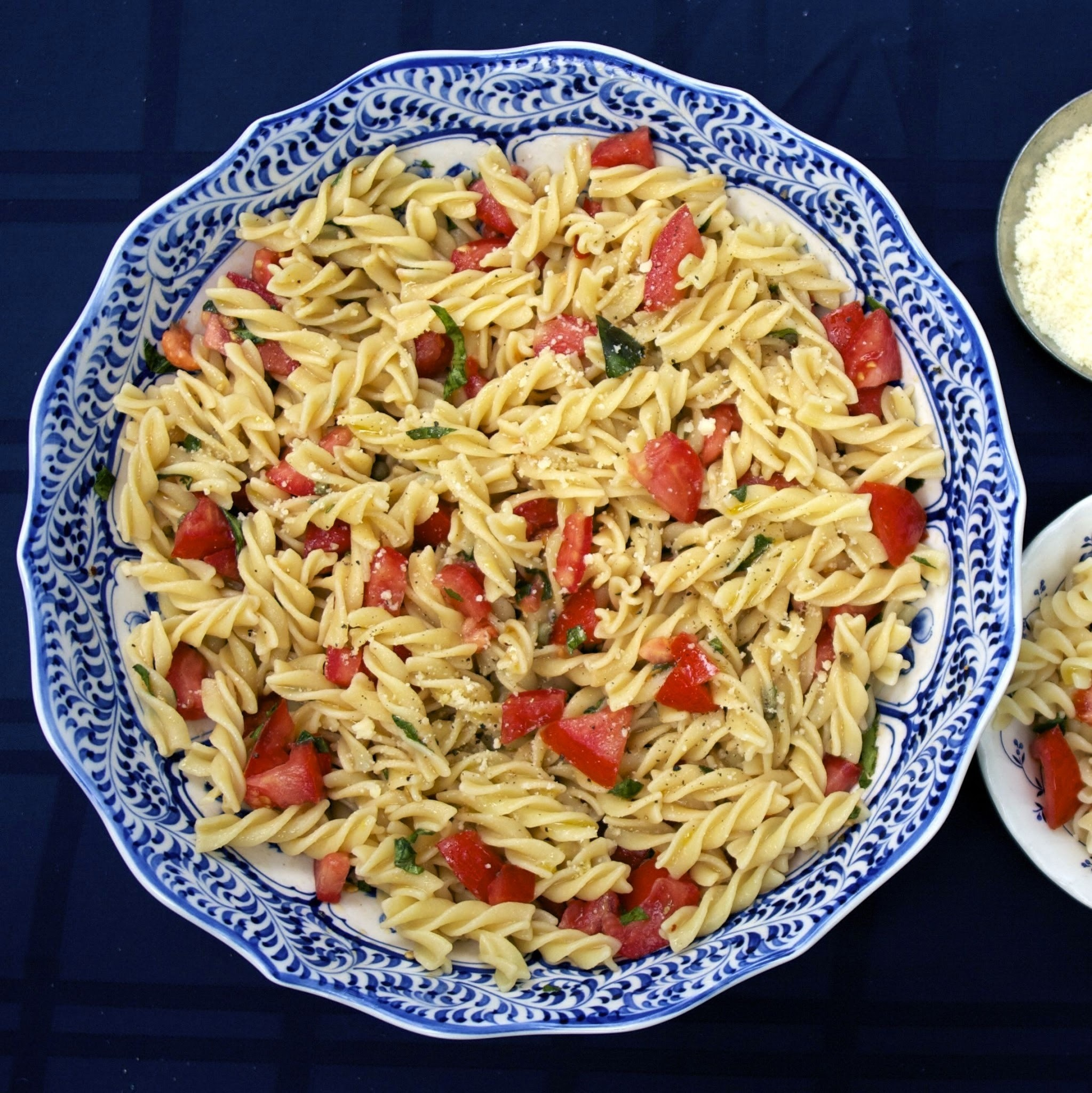 Pasta with Raw Tomatoes   #River Cottage VEG  #Weekly Menu Plan