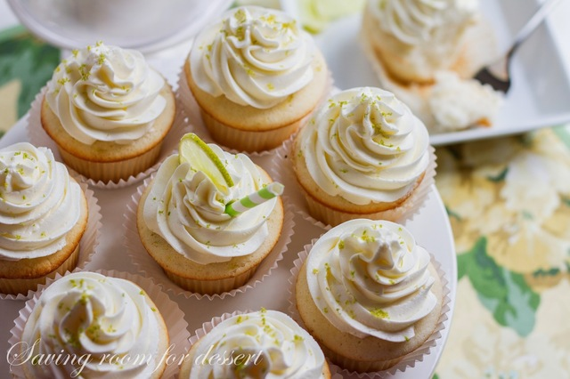 Lime Cupcakes with Swiss Lime Buttercream