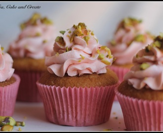 Rose Water and Pistachio Cupcakes