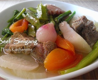 Beef Sinigang (Beef in Sour Soup)
