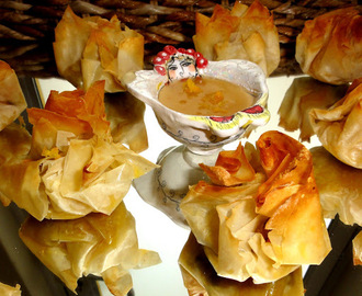 Thai Phyllo cups~   look for my recipe here..www.freshlyblogged.co.za