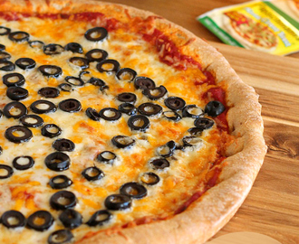30-Minute Homemade Pizza Recipe with Halloween Spiderweb