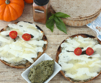 Mummy Pizzas with Smoky Pesto