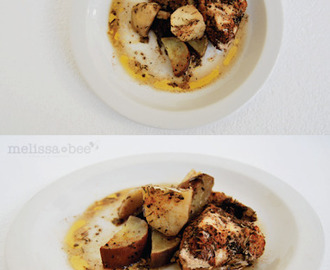 MelissaBee Recipes {Chicken roasted with vegetable}
