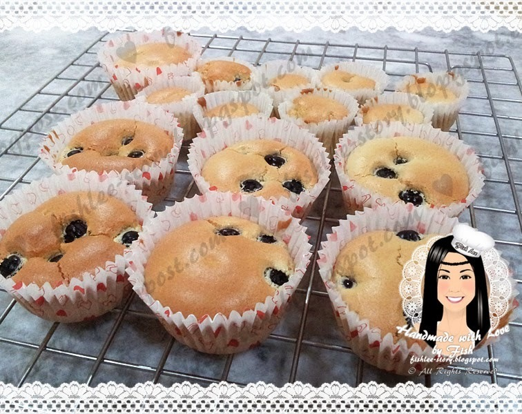 Blueberry Cup Cake 蓝莓杯子蛋糕